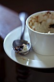 Eaten-up rice pudding brûlée