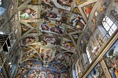 The famous Sistine Chapel ceiling
