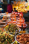 Pickled vegetables at a traditional market in Dongmun, Jeju Island, South Korea, Asia
