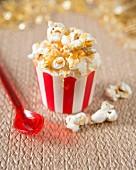 A popcorn cupcake