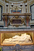 The sarcophagus of St Sebastian in the Church of San Sebastiano Fuori Le Mura, Rome