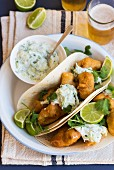 Tacos with beer-battered fish