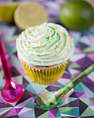 A key lime cupcake