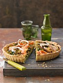 Smoked fish tart