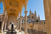 View of the Cathedral at Palma de Majorca from the Museum Palau March