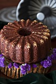 Chocolate orange cake with beetroot, honey, chia seeds and spelt flour