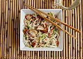 Chinese chicken salad with Chinese cabbage