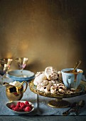 Chocolate strudel meringues