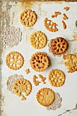 Lattice biscuits (seen from above)