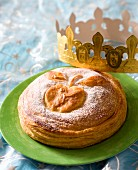 Galette des Rois: Three King's Cake with apple and caramel