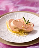 Foie gras with orange jelly