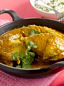 Chicken in a curry sauce
