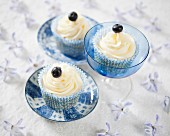 Blueberry surprise cupcakes