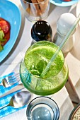 Basil and lime drink