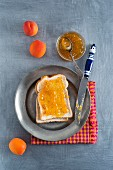 Toast with apricot jam