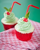 Mint Julep-Cupcakes