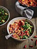 Chili con Carne mit Salat