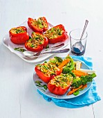 Fried rice stuffed capsicums