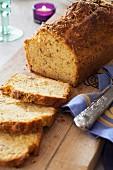 Portuguese chourico bread
