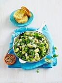 Gnocchi und Gemüse aus der Pfanne