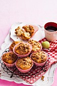 Pear and spice streusel muffins