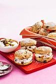 Date and walnut scones