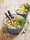 Rice noodle salad with vegetables (Turkey)
