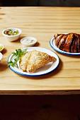 Israeli pastries: Bourekas and Rugelach (chocolate croissant)
