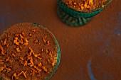 Orange tiramisu in old-fashioned glasses