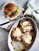 Kalbs-Parmigiana und Parmigiana-Sandwich