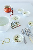 Cucumber soup with kefir and pumpkin seed oil