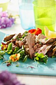 Sommerlicher Lammfleischsalat