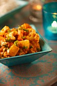 Veg curry with pineapple and cashew nuts