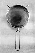 A sieve (black-and-white shot)