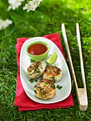 Thai fish cakes with a dip