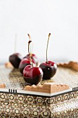 Chocolate-coated cherries