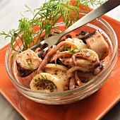 Spanish squid and octopus salad with dill