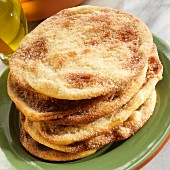 A stack of sweet olive oil tortas (Spain)