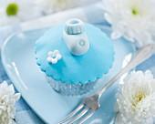 Cupcake mit Babyschuh