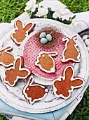 Osterhasenplätzchen mit Ingwer und Zuckerglasur