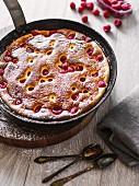 A raspberry omelette
