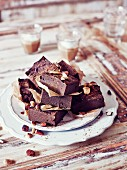 Sweet potato brownies with nuts