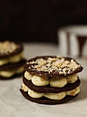 Chocolate and hazelnut galettes