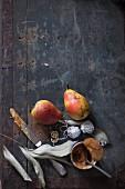 Dessertzutaten: Birnen, Rooibuschtee und Karamelcreme