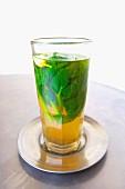 A glass of mint tea (Morocco)