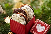 Elisenlebkuchen (spiced soft gingerbread from Germany) in a gift box