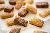 Financiers dusted with icing sugar