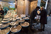 A fish shop in the historic city centre of Naples (Italy)