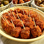 Meat balls in a spicy tomato sauce