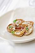 Tortellini gefüllt mit Ente, Steinpilz und kandierter Birne candied Pear, Pasta Gericht, Restaurant Grossi Florentino, Melbourne, Australien